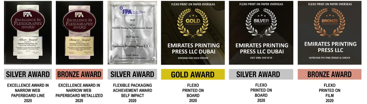 Excellence In Flexography Award | Flexographic Technical Association (Fta), U.S.A. | Emirates Printing Press LLC